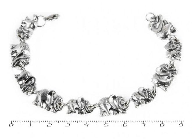 Серебряные браслеты со слониками