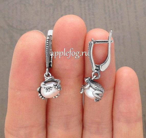 e12919571c9b Серьги в виде лягушек серебро 925 купить